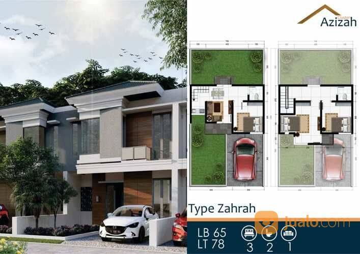 promo dua lantai rumah 1 km dari exit tol malang cluster azizah