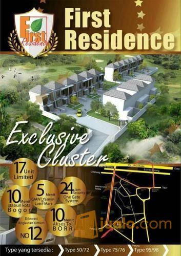 rumah cluster first residence lokasi prestisius dalam kota bogor