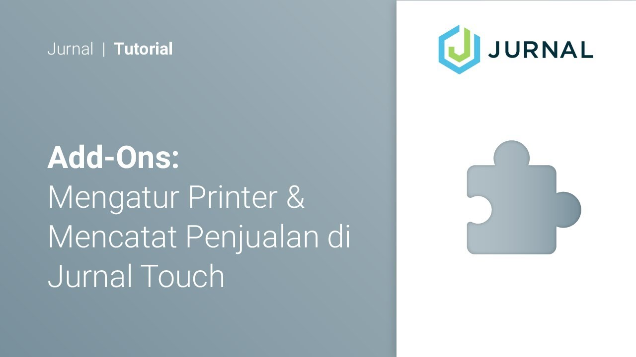 Install Printer and Create Sales from Jurnal Touch