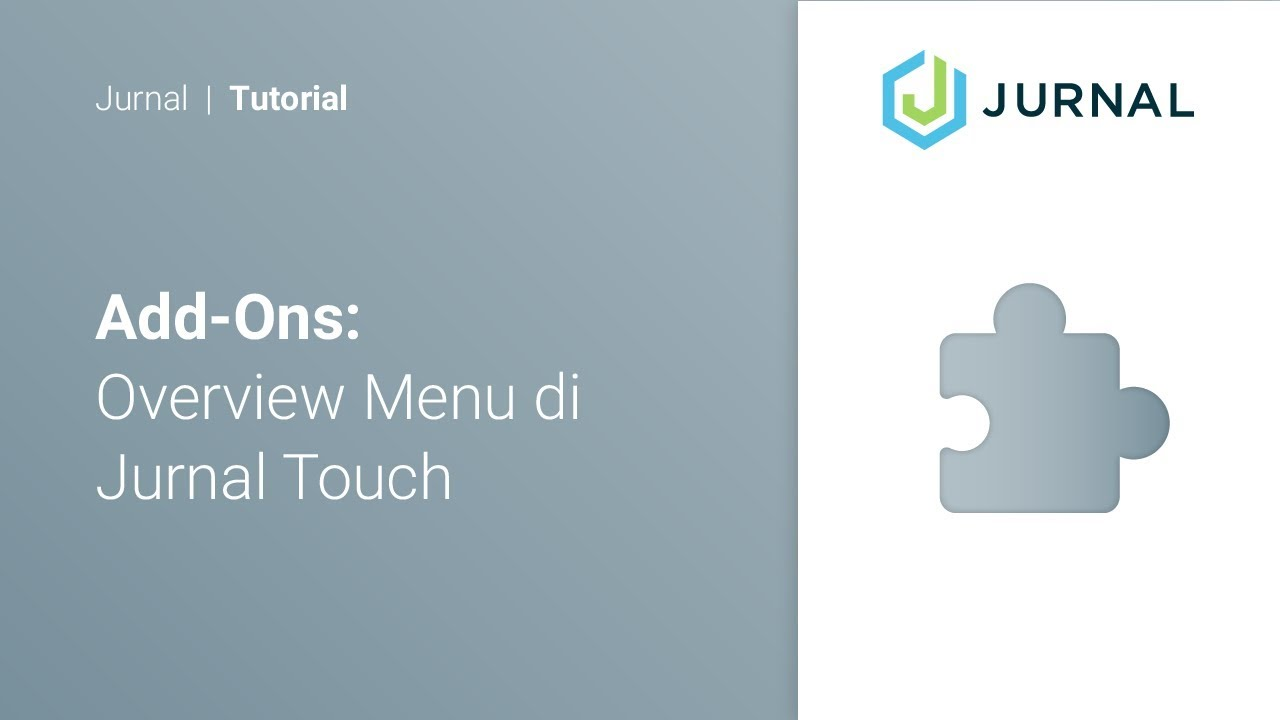 Overview of Jurnal Touch Menu