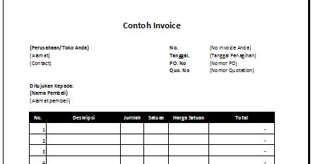 Kenali Jenis Dan Contoh Invoice Yang Penting Untuk Bisnis