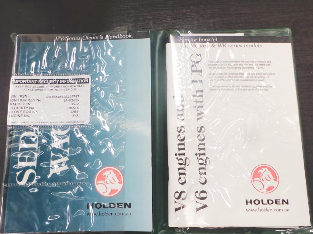 View Auto part Owners Handbook Holden Commodore 2003
