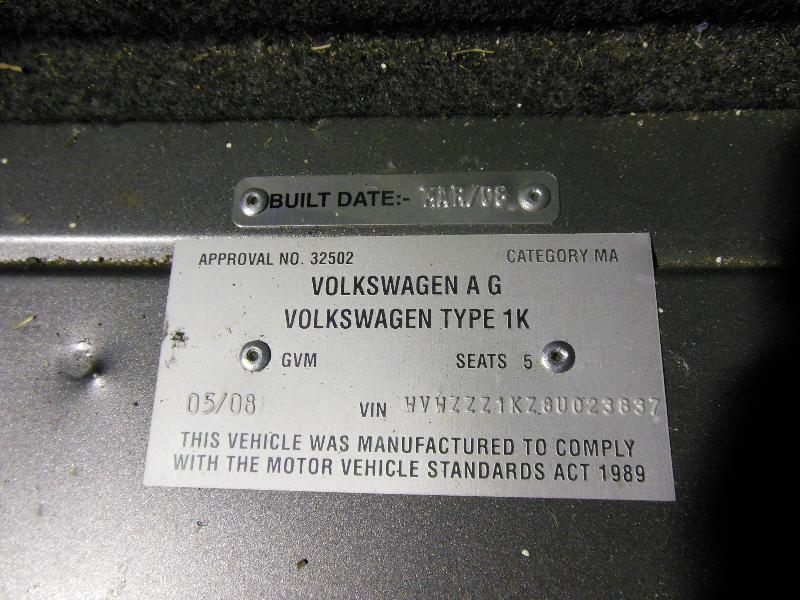 View Auto part Bonnet Hinge/Strut Volkswagen Golf 2008