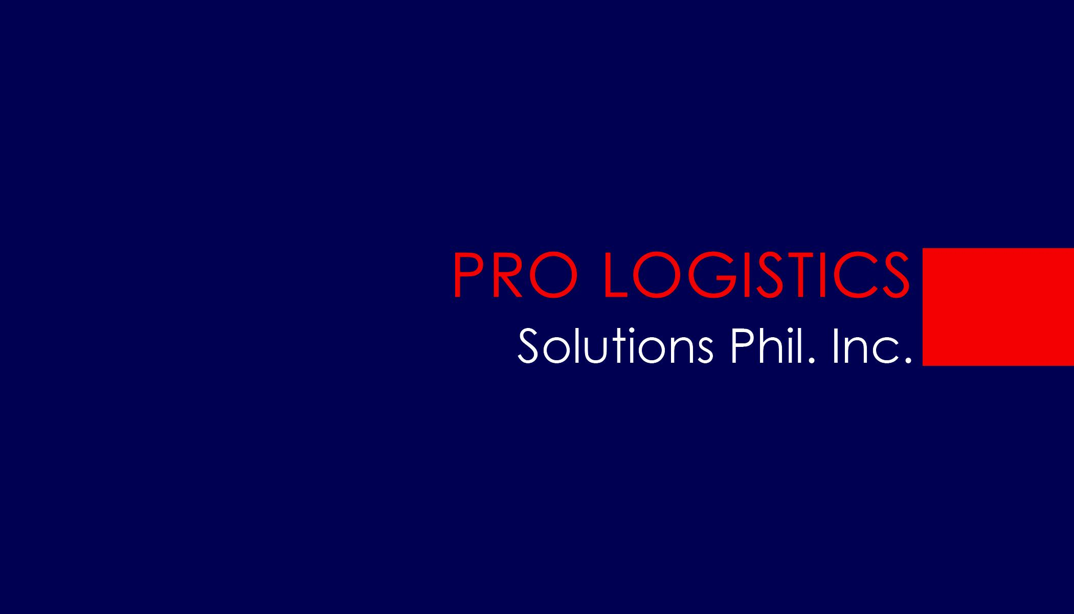 Pro Logistics Solutions Phil Inc.