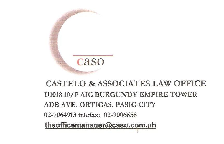 CASTELO AND ASSOCIATES LAW OFFICE