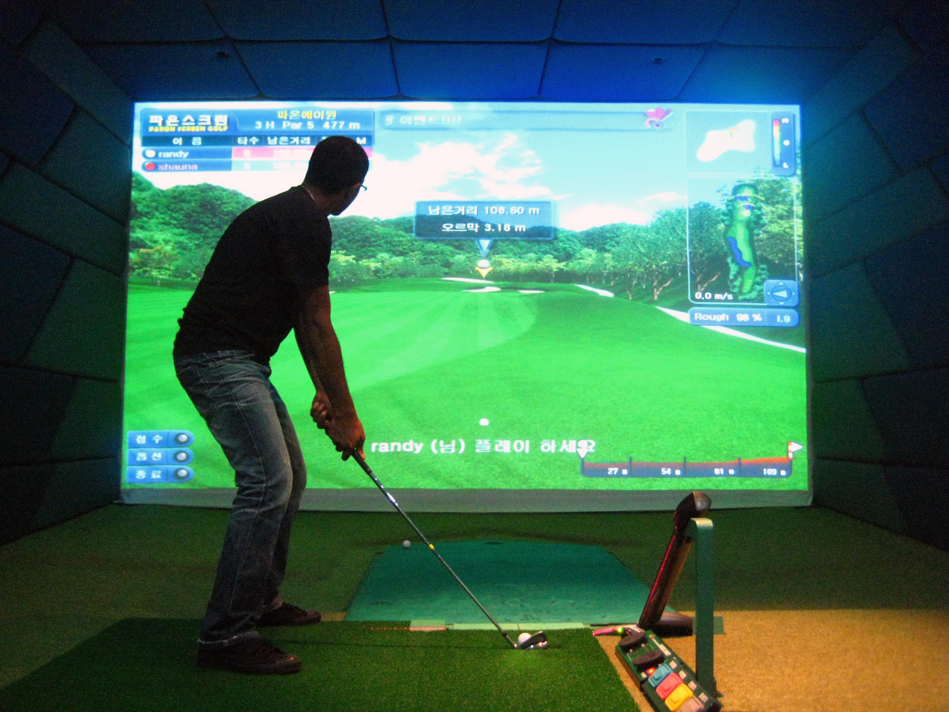 X zone Screen Golf