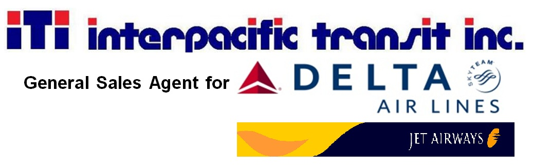 Interpacific Transit Inc. General Sales Agent for Delta Air Lines/Jet Airways