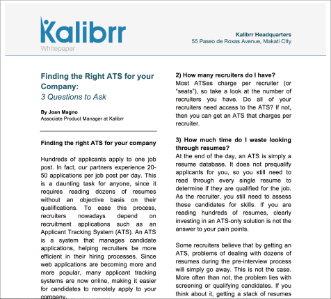Finding The Right Ats For Your Company Free Recruitment Guides At