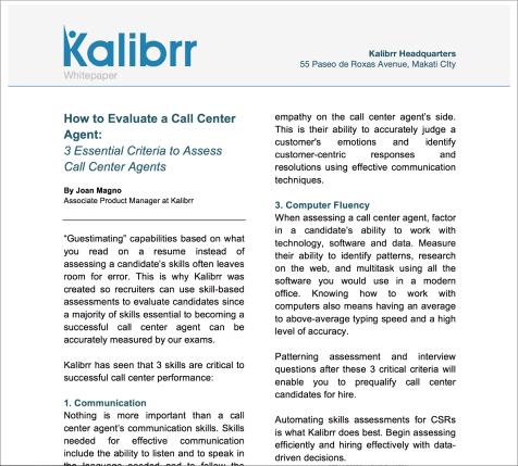 How to evaluate a Call Center Agent