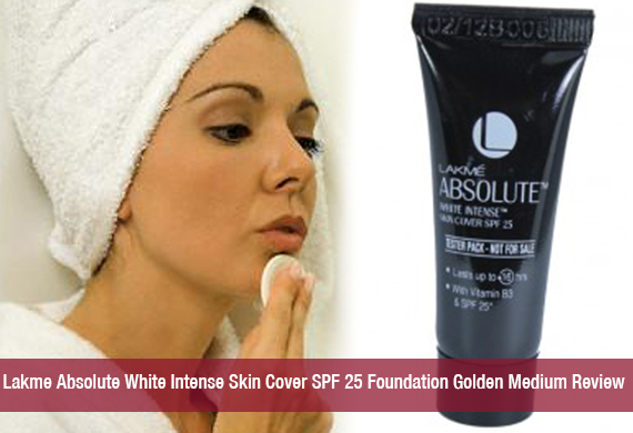 Lakme Absolute White Intense Skin Cover SPF 25 Foundation Golden Medium Review