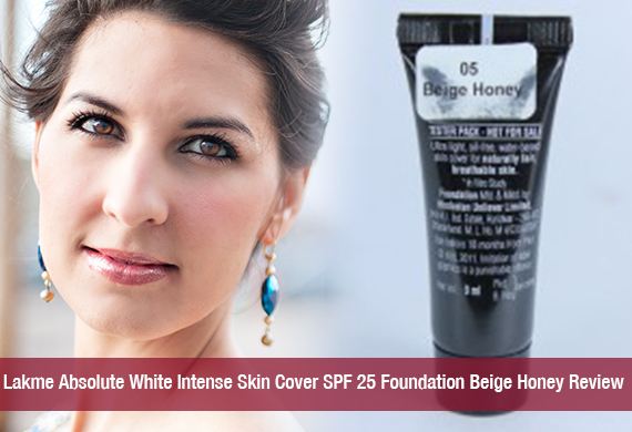 Lakme Absolute White Intense Skin Cover SPF 25 Foundation Beige Honey Review