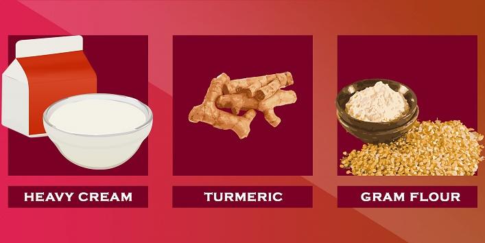 heavy-cream-turmeric-gram-flour