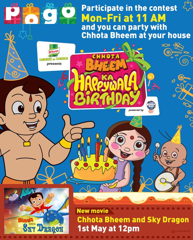 Taj Television - POGO Mailer (Chhota Bheem Birthday) (1)
