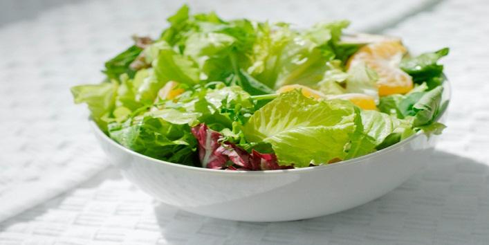 Close-up of a bowl of salad