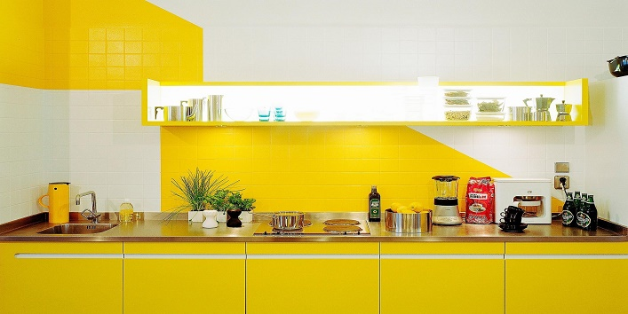 Bright And Colorful Kitchen Design Ideas With Yellow Color  Brilliant Yellow Paint For Kitchen Walls - Chateautourduroc.com