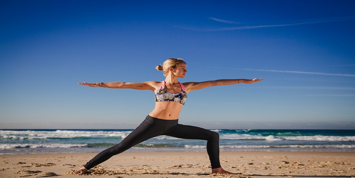 how to get firm breasts with Virabhadrasana