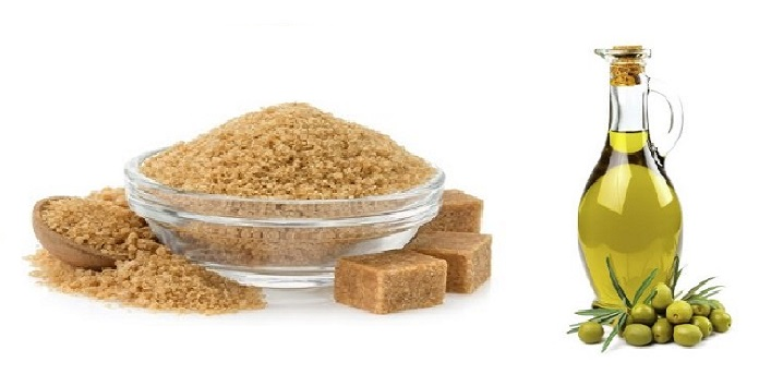 Brown Sugar & Olive Oil Scrub for Exfoliating and Natural Humectant