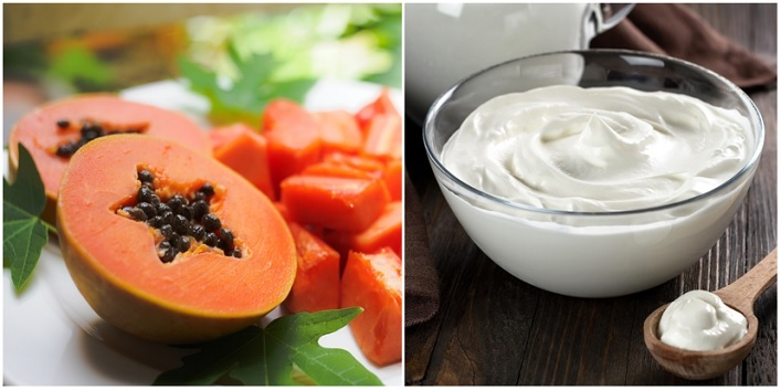 Papaya & Yogurt Treatment for Soothing and Hydrating Skin