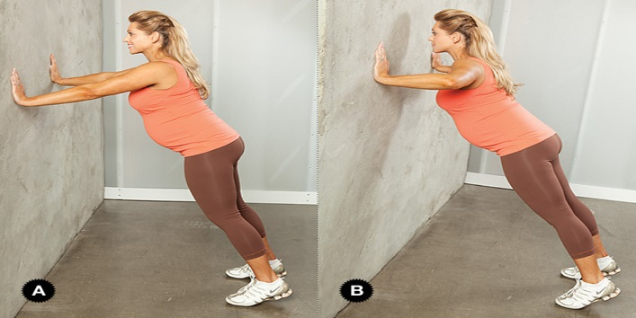 Try wall push-ups as well