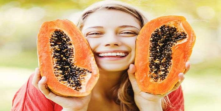Papaya and coconut milk face mask