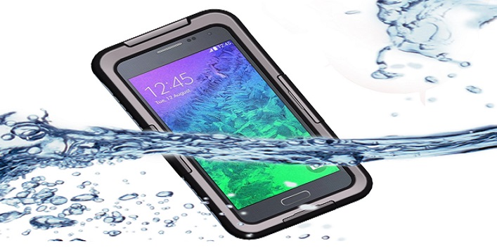Use waterproof phone cover