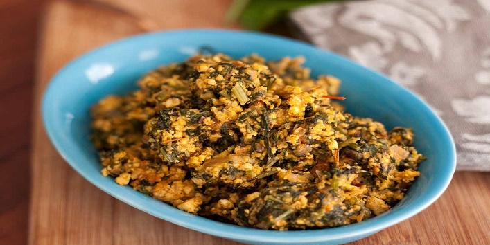 Bhindi-Palak-Bhurji