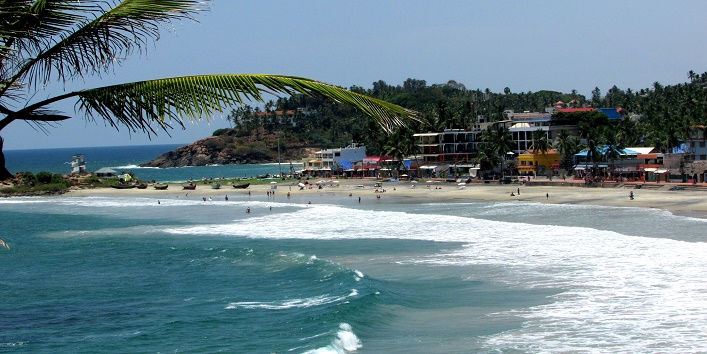 Kovalam beach in india