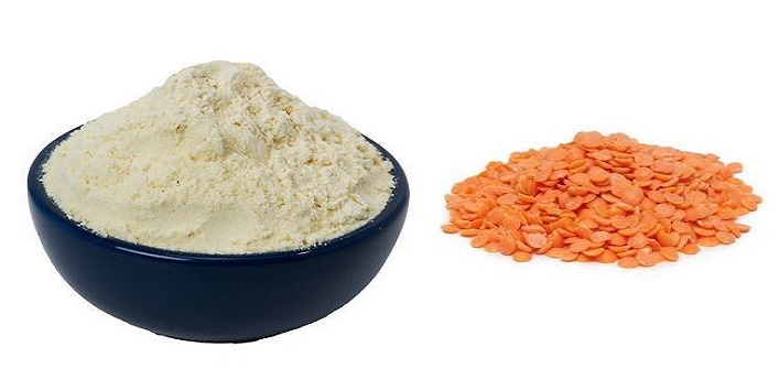 Lentil and gram flour pack to get rid of wrinkles and black spots