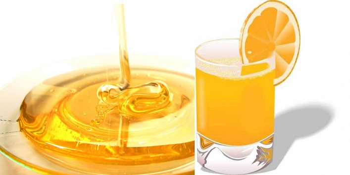 Orange juice and honey pack for removing sagging of skin and tan