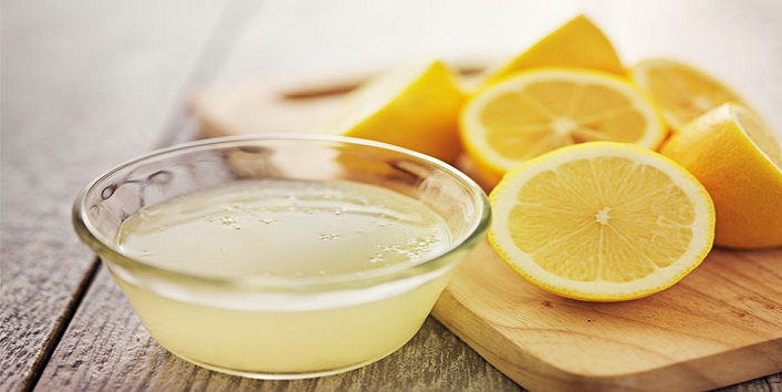 Lemon juice for reducing marks quickly