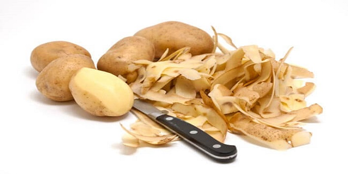 Potato peel to treat grey hair