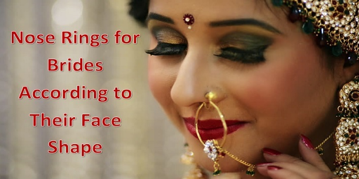 Beautiful Nose Rings For Brides According To Their Face Shape