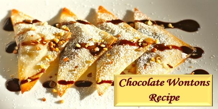 chocolate wontons recipe