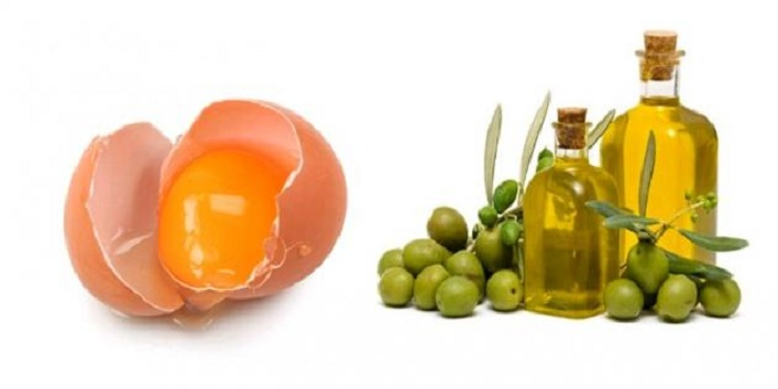 Egg white and olive oil mask for tightening skin