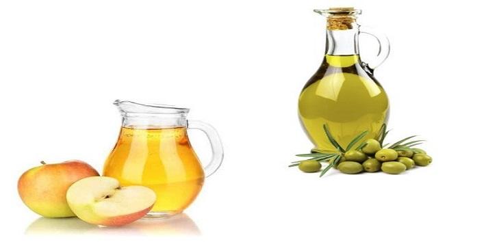Olive oil, apple cider vinegar and yogurt for beautiful hair