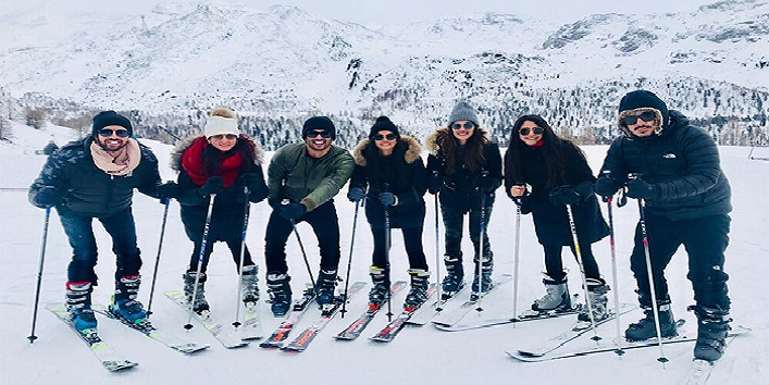 celebs who gave us major winter vacay goals