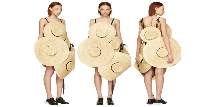 Straw hat dress