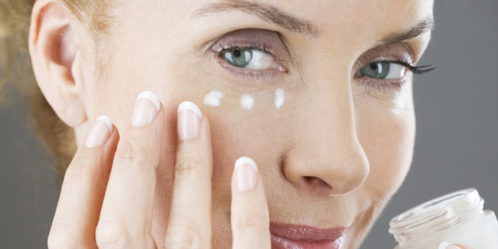 Apply eye cream