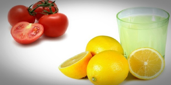 Lemon juice and tomato juice cleanser for youthful skin