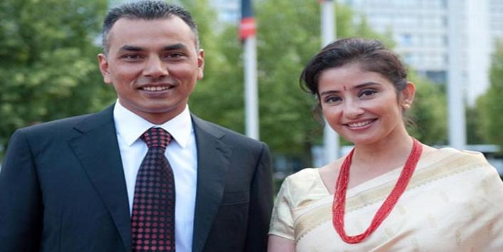 Manisha Koirala and Samrat Dahal