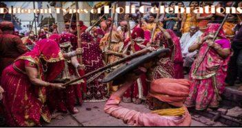 Different Types of Holi celebrations
