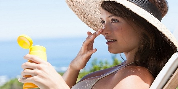 Lastly, apply sunscreen