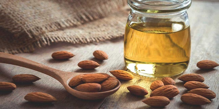 Warm almond oil