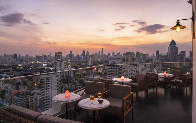 Sunset Watching from the Sky Bar in Bangkok
