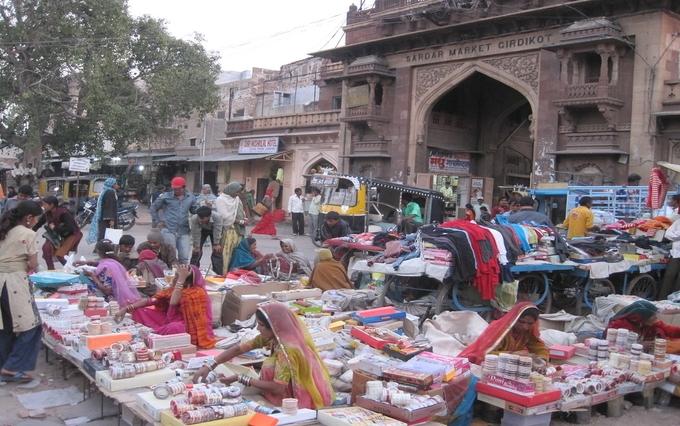 Sadar Bazaar in Jodhpur
