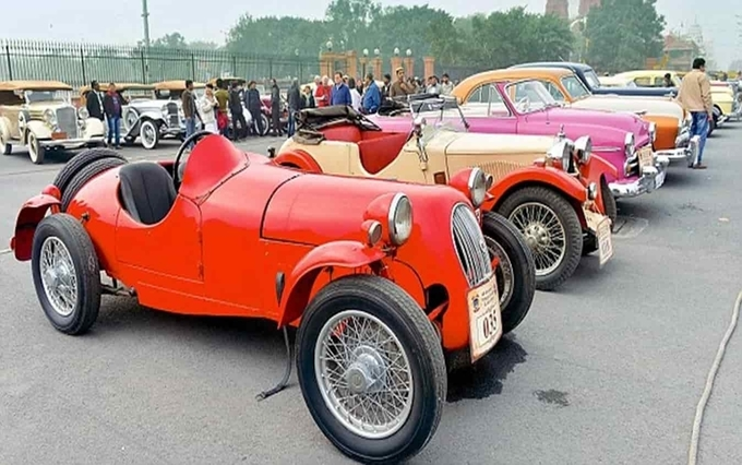 Vintage car rally Rajasthan