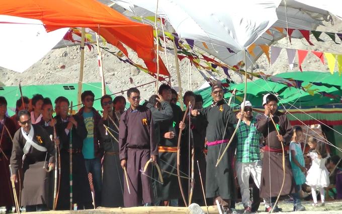ladakh festival Archery event