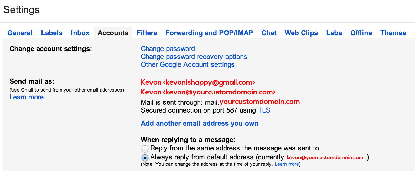 Hack: How to Use Gmail with Custom Domain for Free | kevon's