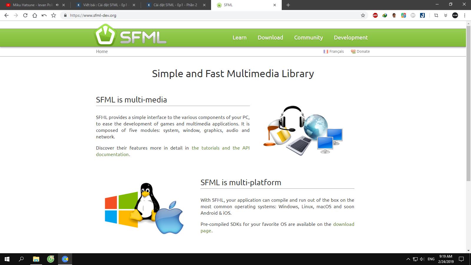 Cài đặt SFML - Ep1 - Phần 3