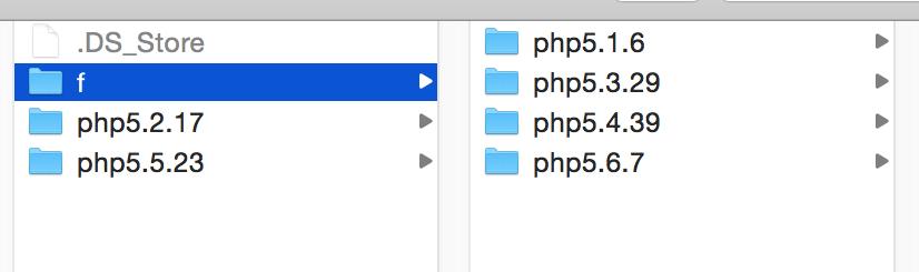 Cấu trúc thư mục /Applications/MAMP/bin/php